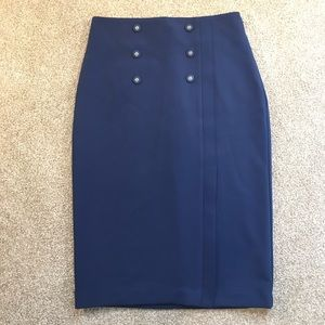 New York & Co. Eva Mendes beautiful blue Skirt.